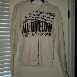 All Time Low White Sweatshirt